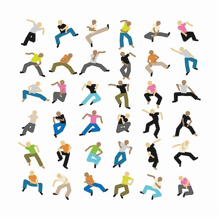 A set of some dancing vector people Stock Photo - Budget Royalty-Free & Subscription, Code: 400-04802000