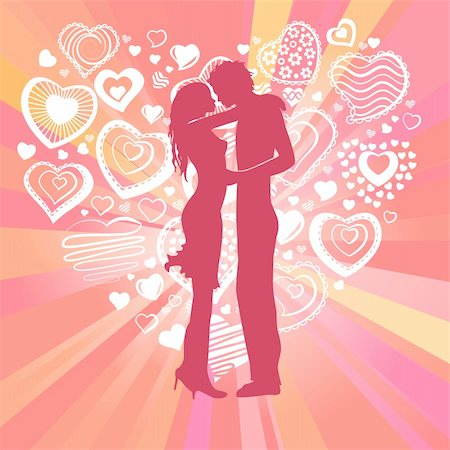 simsearch:400-04863562,k - Couple and big heart made of small ones Stock Photo - Budget Royalty-Free & Subscription, Code: 400-04803376