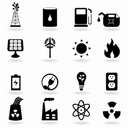 soleilc (artist) - Eco icons for clean energy and environment Stock Photo - Budget Royalty-Free & Subscription, Code: 400-04815116