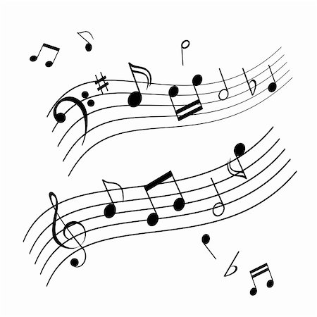 pic music note symbol - Musical notes on music sheet Stock Photo - Budget Royalty-Free & Subscription, Code: 400-04816212