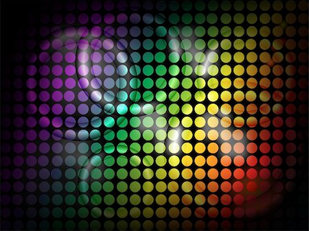 pokerman (artist) - Vector Background  - Neon Rings with bright disco lights overlaid Stock Photo - Budget Royalty-Free & Subscription, Code: 400-04816708