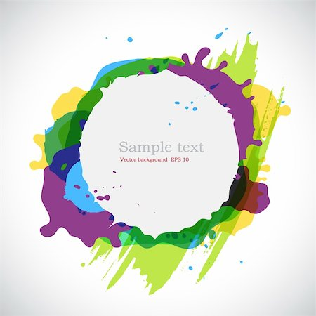 spot paint - Elegance  ink blots background with place for your text. Stock Photo - Budget Royalty-Free & Subscription, Code: 400-04817226