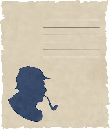 the vector silhouette pipe smoker (eps file) Stock Photo - Budget Royalty-Free & Subscription, Code: 400-04818107