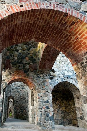 Interior of ancient stone ruin witharches Stock Photo - Budget Royalty-Free & Subscription, Code: 400-04818378