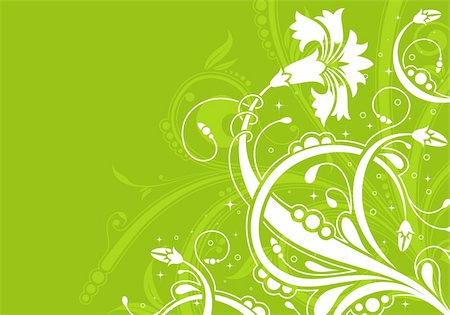 filigree - Decorative Floral background for design, vector illustration Stock Photo - Budget Royalty-Free & Subscription, Code: 400-04819343