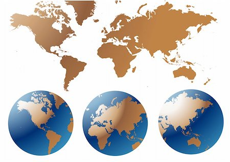 Globe and Map of the World Stock Photo - Budget Royalty-Free & Subscription, Code: 400-04810081