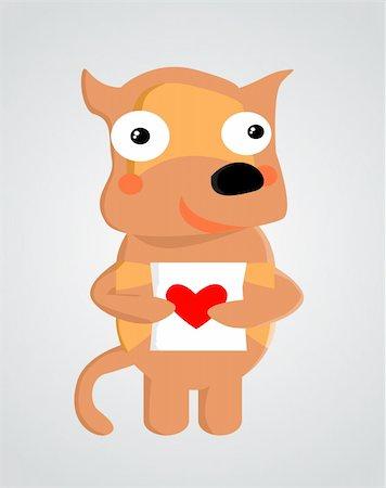 Valentine animal Stock Photo - Budget Royalty-Free & Subscription, Code: 400-04810586
