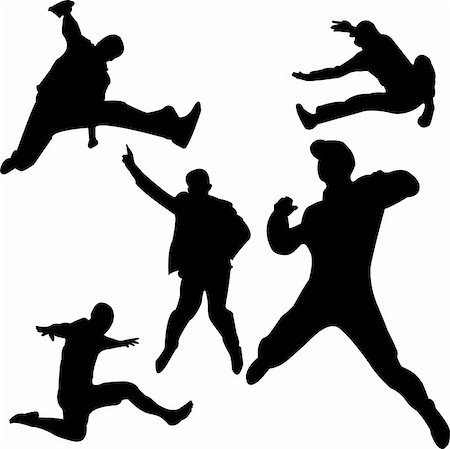 simsearch:400-04222950,k - people jumping silhouettes - vector Stock Photo - Budget Royalty-Free & Subscription, Code: 400-04811114