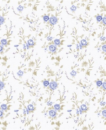 blue Rose bouquet design Seamless pattern with White background Stock Photo - Budget Royalty-Free & Subscription, Code: 400-04812695