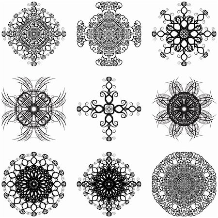 simsearch:400-04744132,k - Illustration of decorative elements set on a white background. Stock Photo - Budget Royalty-Free & Subscription, Code: 400-04813898