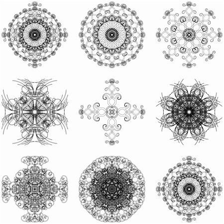 simsearch:400-04744132,k - Illustration of decorative elements set on a white background. Stock Photo - Budget Royalty-Free & Subscription, Code: 400-04813899