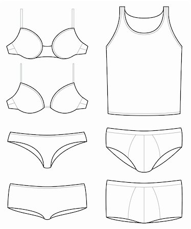 underwear templates Stock Photo - Budget Royalty-Free & Subscription, Code: 400-04813890