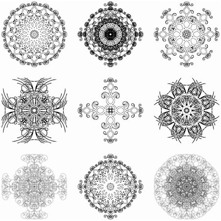 simsearch:400-04744132,k - Illustration of decorative elements set on a white background. Stock Photo - Budget Royalty-Free & Subscription, Code: 400-04813900