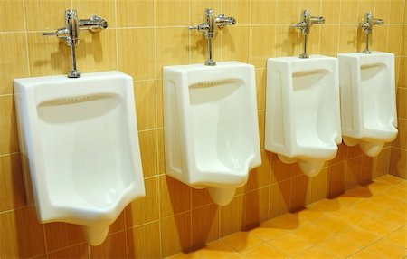 urinals at office Stock Photo - Budget Royalty-Free & Subscription, Code: 400-04824470