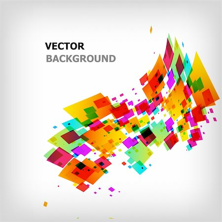 the abstract square colorful background - vector illustration Stock Photo - Budget Royalty-Free & Subscription, Code: 400-04824800