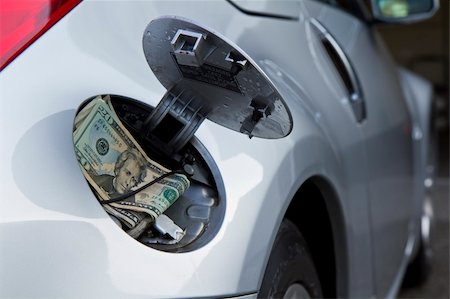 rural gas station - Tough times with raising fuel prices - especially a gas guzzler that just eats your hard, earn money Stock Photo - Budget Royalty-Free & Subscription, Code: 400-04825501