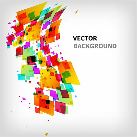 the abstract square colorful background - vector illustration Stock Photo - Budget Royalty-Free & Subscription, Code: 400-04829922