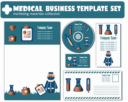 Medical Business Template set vector Stock Photo - Budget Royalty-Free & Subscription, Code: 400-04821531