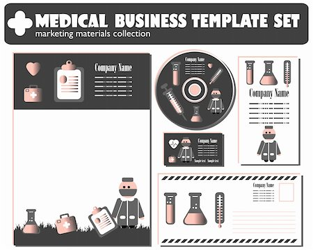Medical Business Template set vector Stock Photo - Budget Royalty-Free & Subscription, Code: 400-04821532