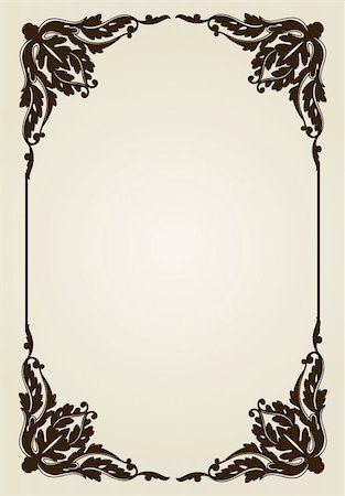 vector vintage frame vector illustration ornament decorative Stock Photo - Budget Royalty-Free & Subscription, Code: 400-04822119
