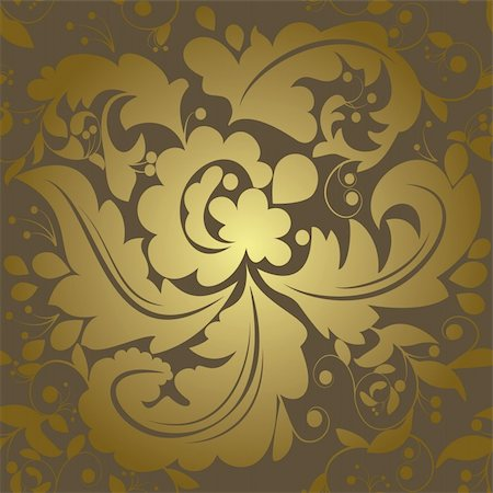 Seamless swirls and leafs pattern Stock Photo - Budget Royalty-Free & Subscription, Code: 400-04834215
