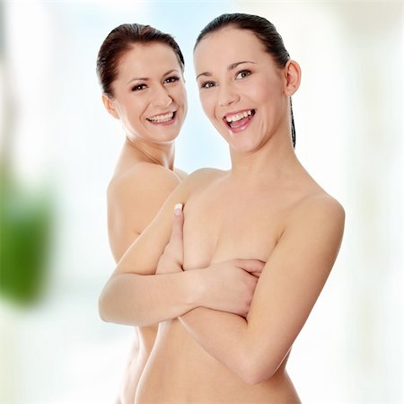 Portrait of a two beautiful sexy young women Stock Photo - Budget Royalty-Free & Subscription, Code: 400-04835418