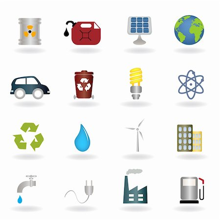 soleilc (artist) - Environmental and ecologic symbols icon set Stock Photo - Budget Royalty-Free & Subscription, Code: 400-04835555