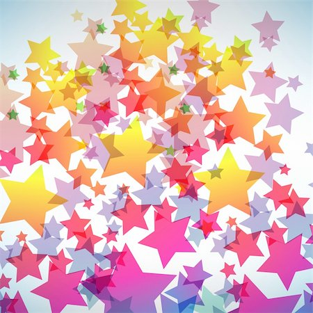 Abstract colorful star background. Vector illustration Stock Photo - Budget Royalty-Free & Subscription, Code: 400-04835784