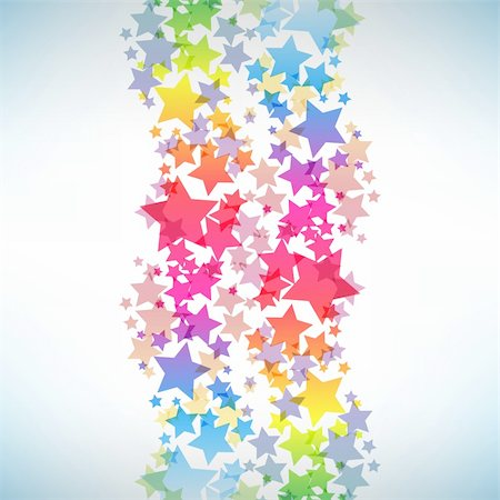 Abstract colorful star background. Vector illustration Stock Photo - Budget Royalty-Free & Subscription, Code: 400-04835785