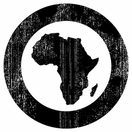 dripping splat - Silhouette of african continent inside the black circle Stock Photo - Budget Royalty-Free & Subscription, Code: 400-04835915
