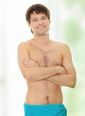 Handsome young man with the towel. Stock Photo - Budget Royalty-Free & Subscription, Code: 400-04836228
