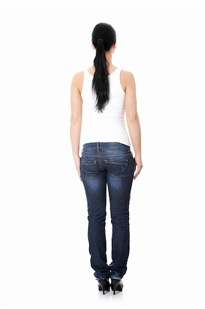 Rear view of young casual woman Stock Photo - Budget Royalty-Free & Subscription, Code: 400-04836567