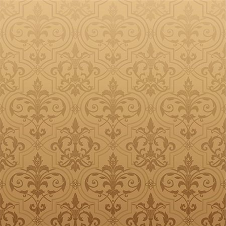 Seamless wallpaper background. Vector illustration Stock Photo - Budget Royalty-Free & Subscription, Code: 400-04836824