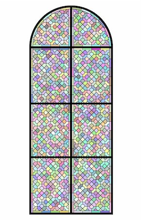 Stained glass church window on black Stock Photo - Budget Royalty-Free & Subscription, Code: 400-04836827