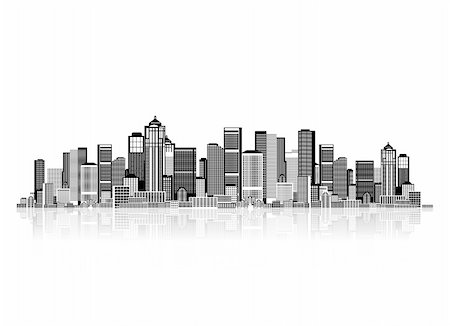 Cityscape background for your design, urban art Stock Photo - Budget Royalty-Free & Subscription, Code: 400-04837245