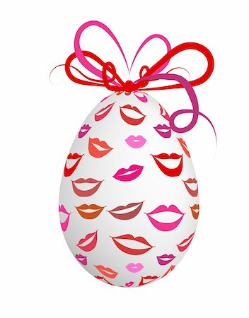 Kissed easter egg for your design Stock Photo - Budget Royalty-Free & Subscription, Code: 400-04837261