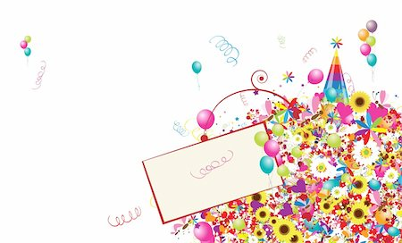 Happy holiday, funny background with balloons for your design Stock Photo - Budget Royalty-Free & Subscription, Code: 400-04837335