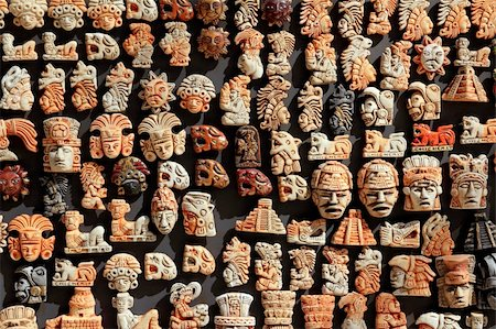 Mayan Mexico wood handcrafts in jungle Yucatan Stock Photo - Budget Royalty-Free & Subscription, Code: 400-04837566