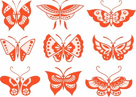 butterfly illustration Stock Photo - Budget Royalty-Free & Subscription, Code: 400-04837893