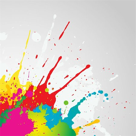 splat - Grunge background with colourful paint splats Stock Photo - Budget Royalty-Free & Subscription, Code: 400-04839847