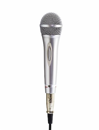 Silver microphone in white Stock Photo - Budget Royalty-Free & Subscription, Code: 400-04831867