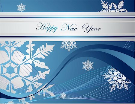 silver box - Silver  and blue Happy New Year  background Stock Photo - Budget Royalty-Free & Subscription, Code: 400-04832479