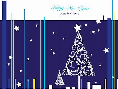 silver box - Silver  and blue Happy New Year  background Stock Photo - Budget Royalty-Free & Subscription, Code: 400-04832494