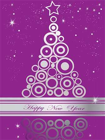 silver box - Silver  and violet Happy New Year  background Stock Photo - Budget Royalty-Free & Subscription, Code: 400-04832501
