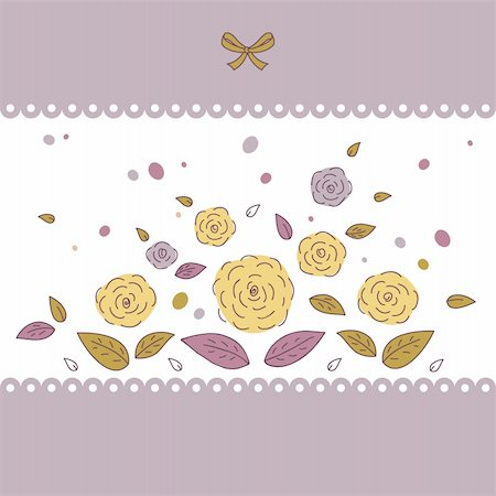 plant leaf paintings graphic - Beautiful card with flowers. Vector illustration  with space for your message Stock Photo - Budget Royalty-Free & Subscription, Code: 400-04833559