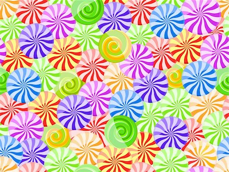 red circle lollipop - vivid striped candy seamless pattern on white background Stock Photo - Budget Royalty-Free & Subscription, Code: 400-04833615