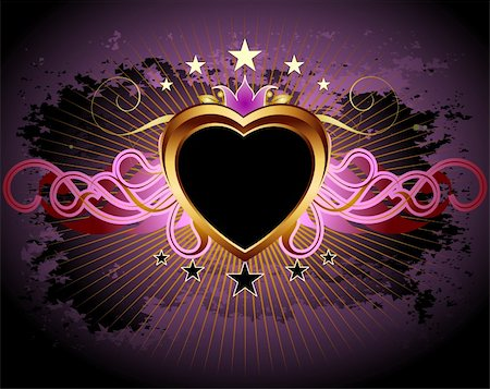 heart frame,  this illustration may be useful as designer work Stock Photo - Budget Royalty-Free & Subscription, Code: 400-04833838