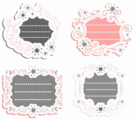 Label vintage Blank frames-stickers Retro style Stock Photo - Budget Royalty-Free & Subscription, Code: 400-04844063