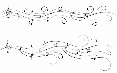 swirl graphic score - Musical notes for sheet music Stock Photo - Budget Royalty-Free & Subscription, Code: 400-04844399