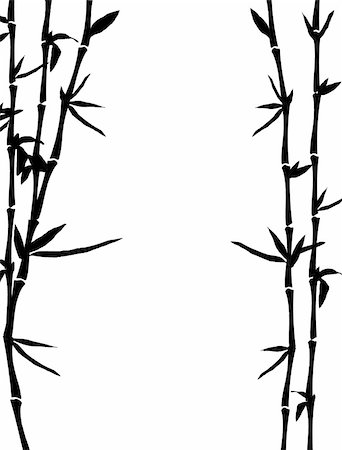roxanabalint - bamboo background, vector illustration Stock Photo - Budget Royalty-Free & Subscription, Code: 400-04846088